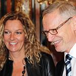 Fernsehmoderatorin Bettina Tietjen und Hans-Michael Kay bei zum Senatsempfang am 15.10.12